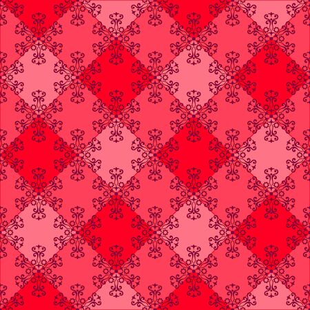 Abstract Tile Seamless Background, Ornament with Symbolical Colorful Floral Patterns. Vector Stock Vector - 81518607