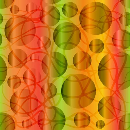Abstract Seamless Pattern with Colorful Circles, Tile Background. Vector