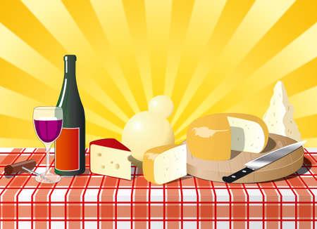 parmigiano: Formaggio italiano sul tavolo con bottel di vino
