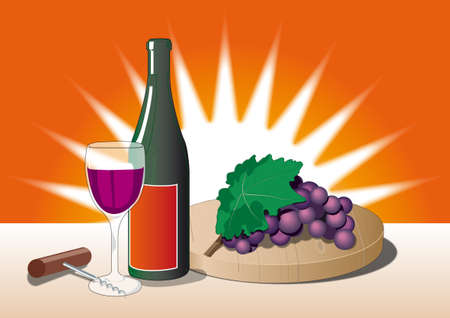bottel of Italian wine on the table