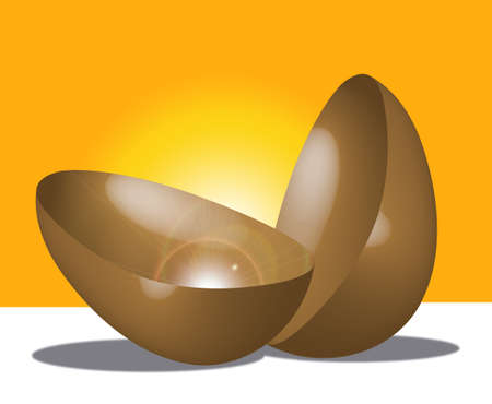 easter egg with surprise and bright shine Stock Photo