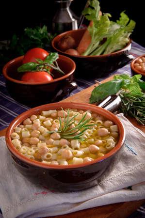 Pasta and chickpeas Stock Photo - 15853017