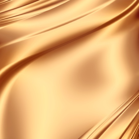 solemn: Smooth golden satin