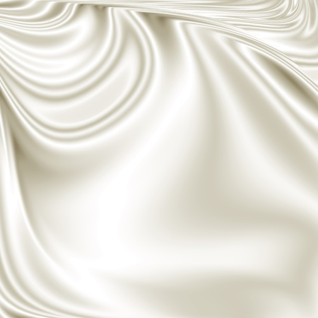 silk ribbon: White smooth fabric texture