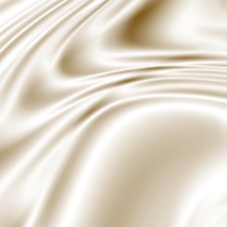 satiny: Smooth white fabric