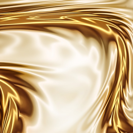 bronze background: Gold on the white drapery artistic texture