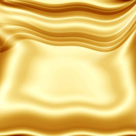 silks: golden yellow designers texture Stock Photo