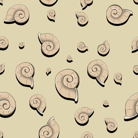 tardy: Seamless pattern helix sea shell vector illustration Illustration