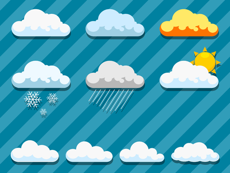 patterned wallpaper: Clouds on blue  sky hand drawn vector illustration