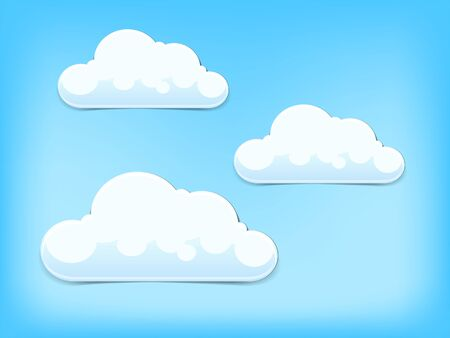 density: Clouds on blue  sky hand drawn vector illustration