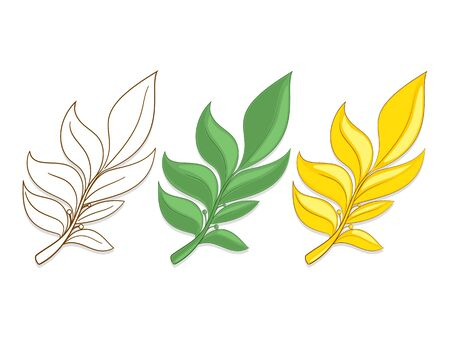 solemn: Branches of laurel hand drawn vector illustration