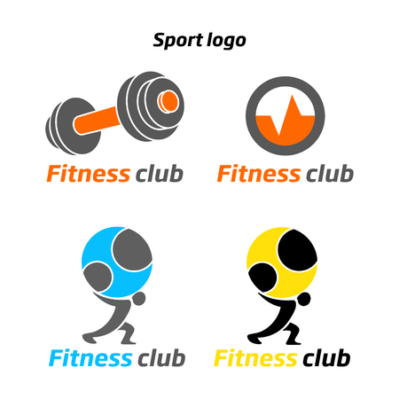 sport club: Fitness sport club  emblem abstract vector illustration