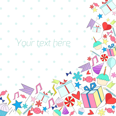 holiday background: Holiday background with text placeholder doodle hand drawn