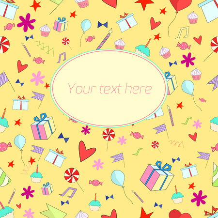 holiday background: Holiday background with doodle hand drawn text placeholder