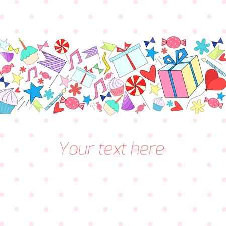 placeholder: Holiday background with text doodle hand drawn placeholder