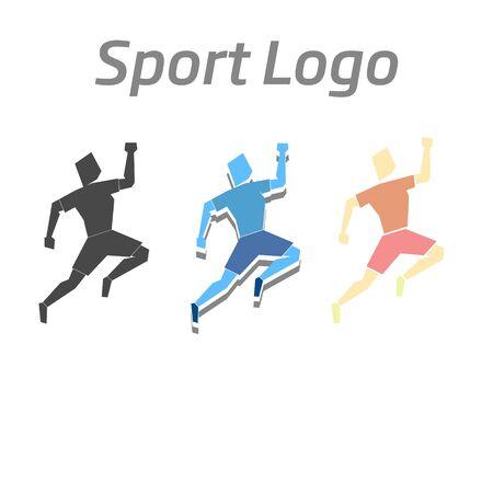 severity: Sport logo athletic doodle cartoon vector illustration
