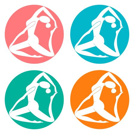 heart chakra: Fitness sport club logo doodle hand drawn  vector illustration