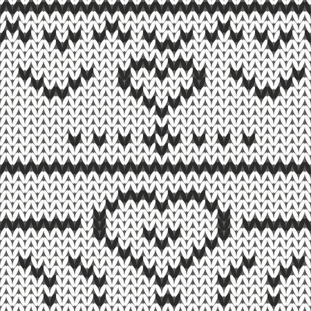 warmed: knitting pattern doodle hand drawn vector illustration Illustration