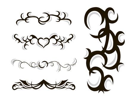 stencils: Tribal tattoo stencil hand drawn doodle vector illustration