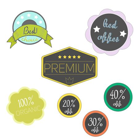 Special label doodle hand drawn vector illustration