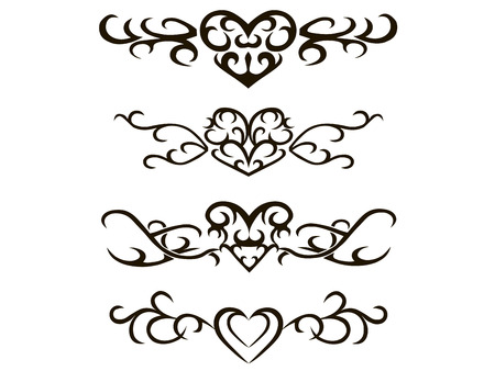 Tribal tattoo stencil hand drawn vector illustration Illustration