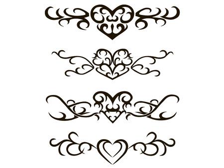 stencils: Tribal tattoo stencil hand drawn vector illustration Illustration