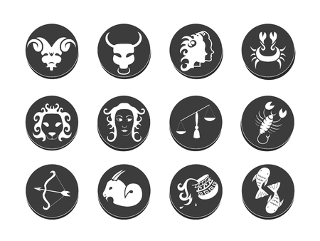 tribal aquarius: Zodiac tattoo stencil hand drawn  vector illustration