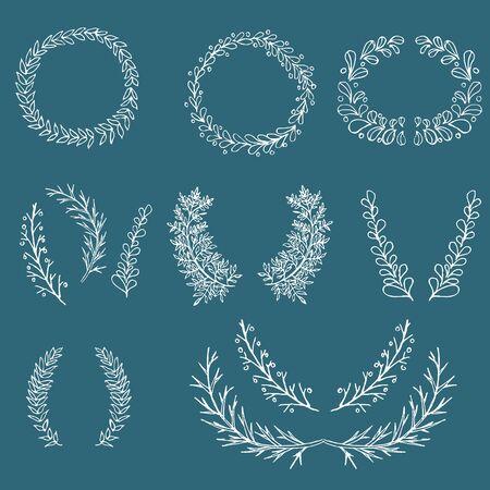 circumference: branch ornament dodle hand drawn vector illustration Illustration