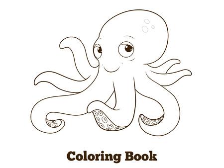 Libro De Pescado De Ostras Para Colorear De Dibujos Animados