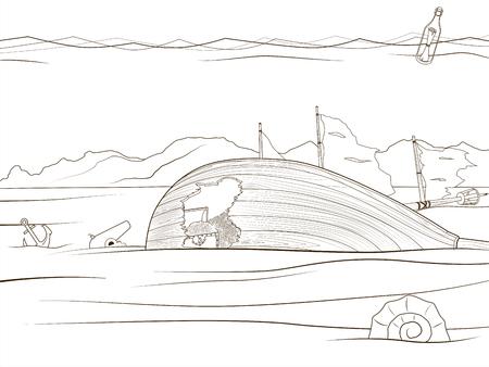Animales Bajo El Agua Y Los Peces Con La Ilustración De Dibujos ...