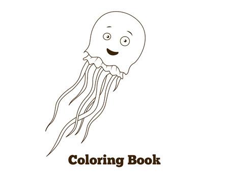 Coloring Book Shark Cartoon Educational Vector Illustration Royalty ...