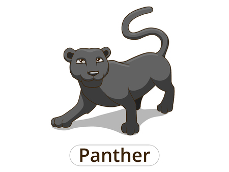 팬더 아프리카 사바나 만화 다채로운 벡터 일러스트 어린이위한