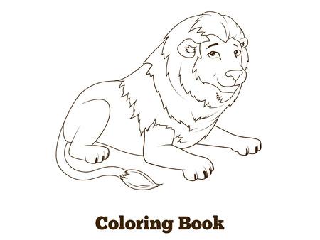 Libro Para Colorear Elefante Africano Ilustración Vectorial ...