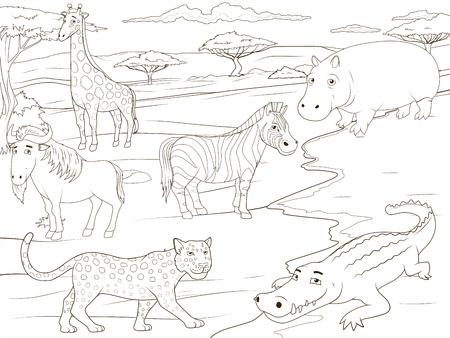 Educational Game For Children African Savannah Animals Cartoon ...