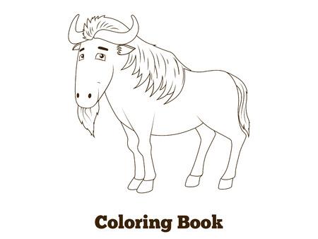 Libro Para Colorear Cebra Sabana Africana Ilustración