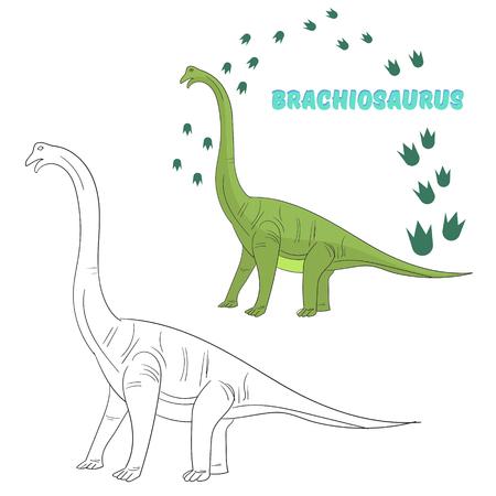 Lernspiel Für Kinder Verbinden Die Punkte, Um Dinosaurier-Cartoon ...