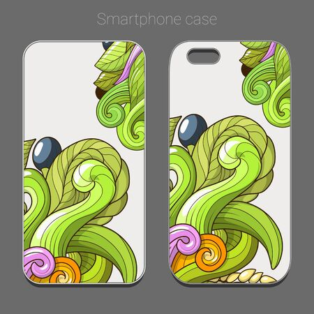 newest: Smartphone case design green abstraction vector illustration