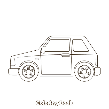 dyeing: Coloring book cartoon car educational game vector illustration