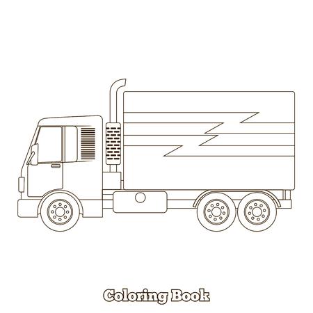 Coche De Dibujos Animados De Libro Para Colorear Juego