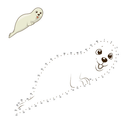 draw animal: Learn to draw animal seal colorful funny hand drawn vector illustration Illustration