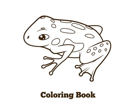 Rana Libro Para Colorear De Dibujos Animados Líneas Negras ...