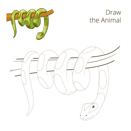 Draw the animal bull educational game vector illustration