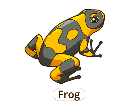 poison dart: Frog poisoned cartoon colorful funny vector illustration Illustration