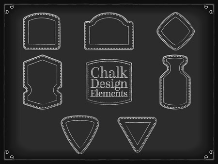 placeholder: Vector illustration chalk design elements shapes placeholder