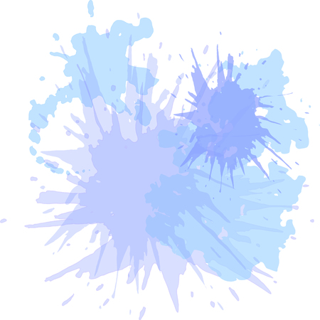 sprayed: Watercolor blots hand drawn vector background, hand drawn, blot, paint