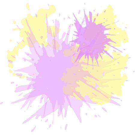 Watercolor blots hand drawn vector background, hand drawn, blot, paint