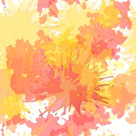 Watercolor blots hand drawn seamless vector background, hand drawn, blot, paint