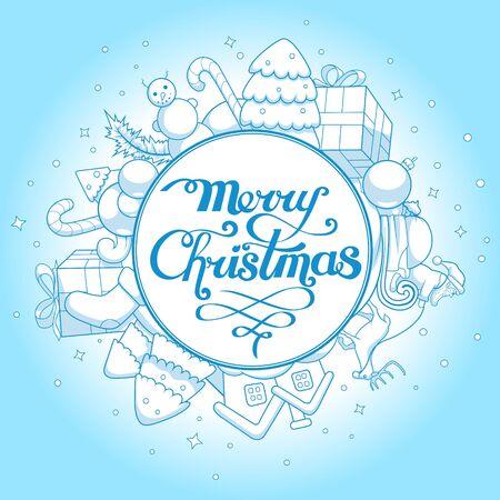 animal background: Vector illustration christmas greeting card, christmas card, greetings, abstraction