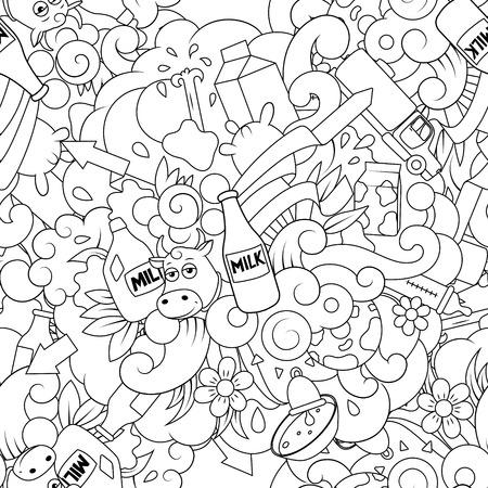 cow bells: Seamless pattern background vector illustration milk, abstract  illustration, seamless background Illustration
