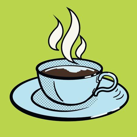 mug of coffee: Cup of coffee pop art style vector illustration. Comic book imitation Illustration
